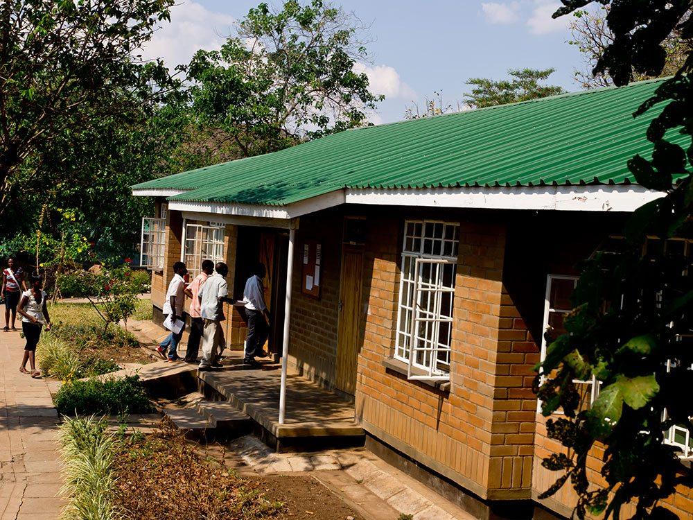 Nkhoma students entering classroom